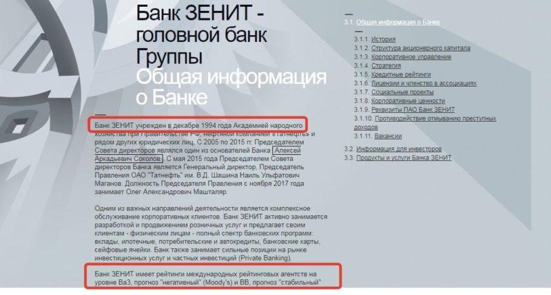 отзыв лицензии банка Зенит