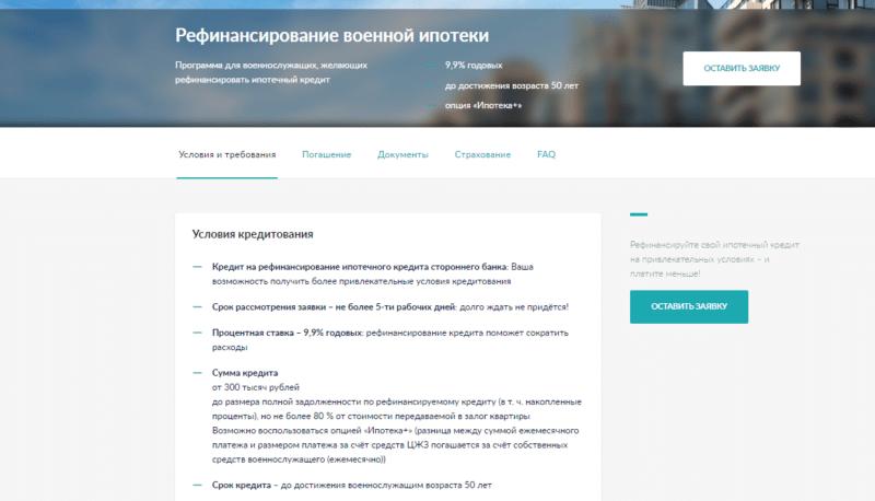 банк Зенит военная ипотека