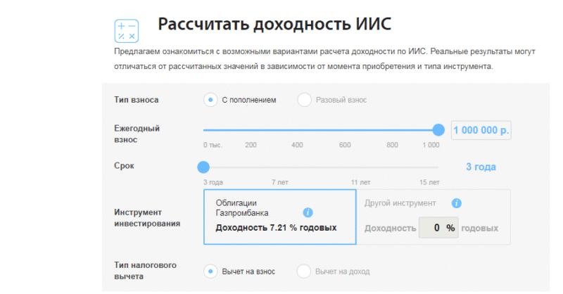 индивидуальный инвестиционный счет Газпромбанк