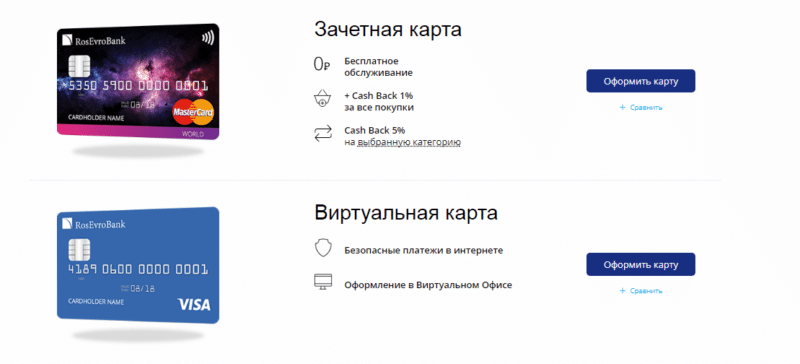 Космическая карта РосЕвроБанка