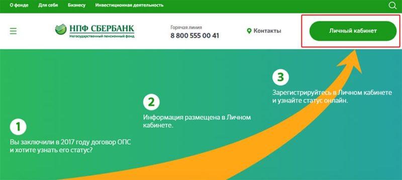 телефон горячей линии НПФ Сбербанка