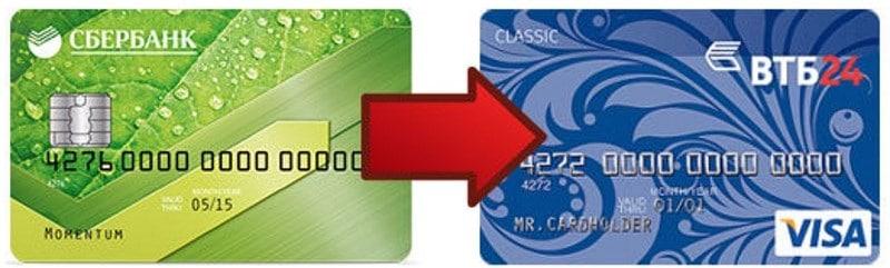 как перевести деньги с Сбербанка на ВТБ через мобильный банк