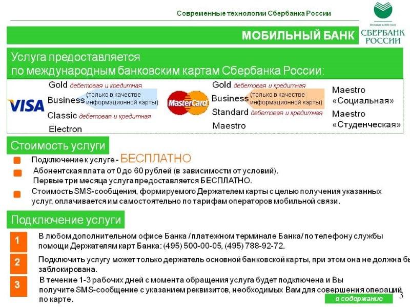 что такое оплата мобильного банка Сбербанк 60 рублей