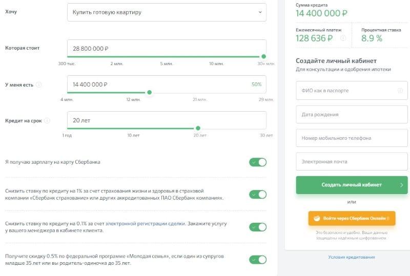 одобренная заявка на кредит в Сбербанке действует