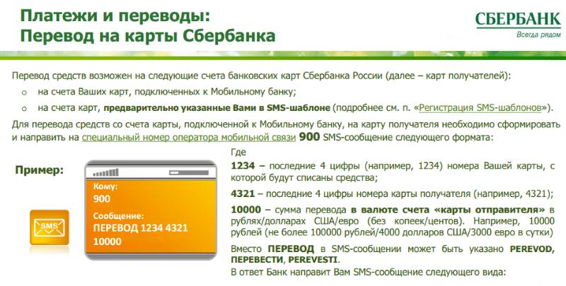 комиссия Сбербанка за перевод в другой регион