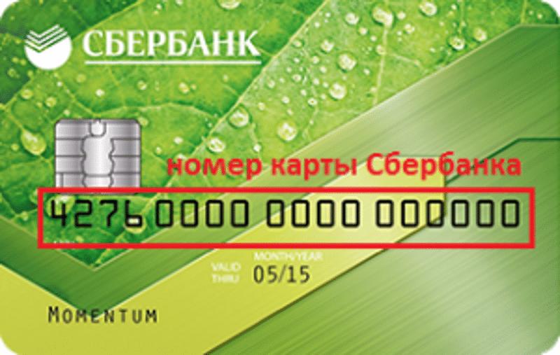 сколько цифр в номере карты Сбербанка