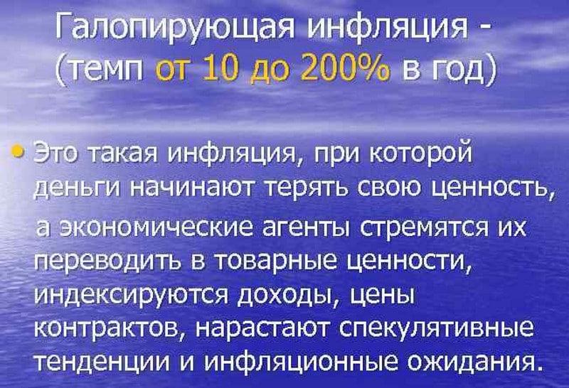 процентная ставка в период галопирующей инфляции