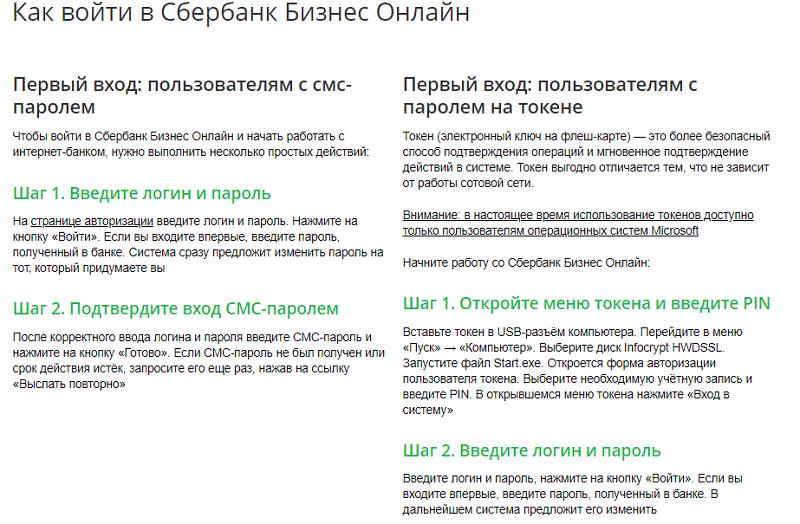 Сбербанк Бизнес Онлайн инструкция