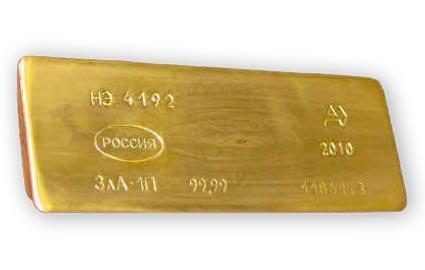 вес банковского слитка золота