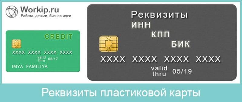 что такое реквизиты банковской карты