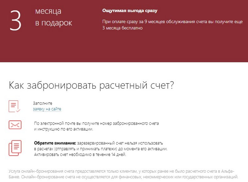 тариф Электронный Альфа-Банка