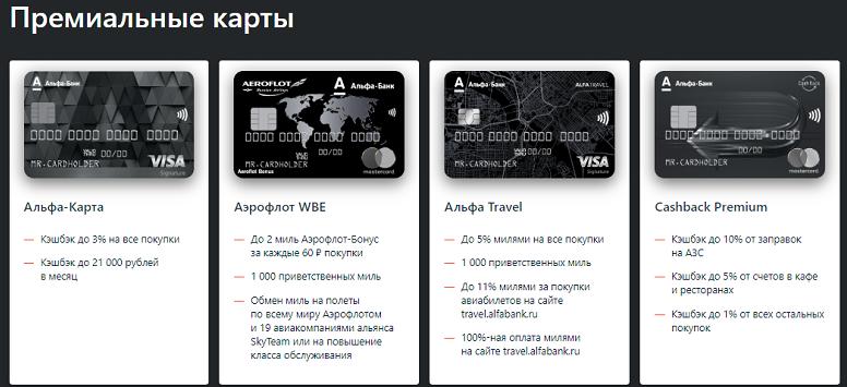 кредитная карта Альфа-Банк Платинум