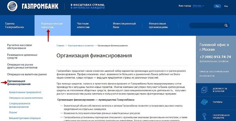 тарифы расчетного счета Газпромбанка для ИП