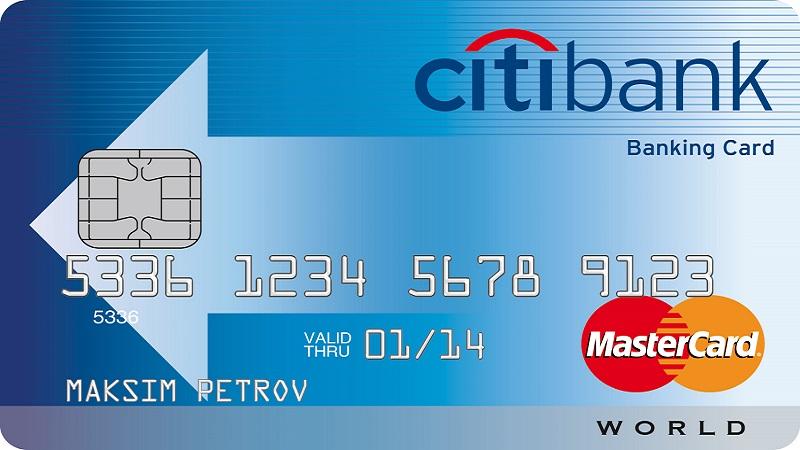 валютная карта Ситибанка