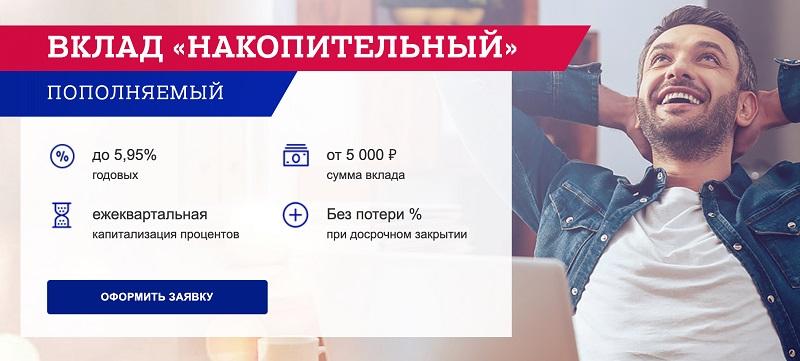 накопительный вклад Почта Банк условия