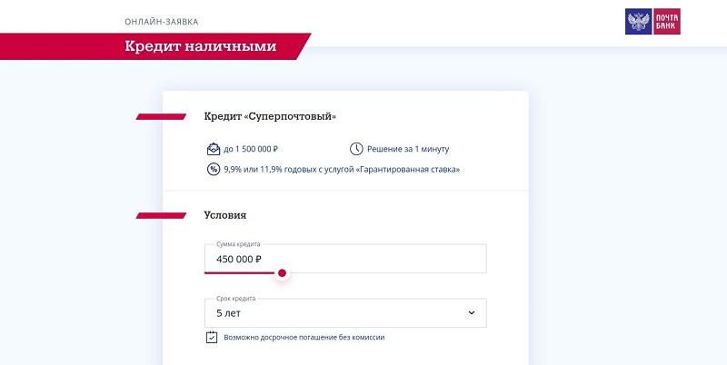 Почта Банк Суперпочтовый