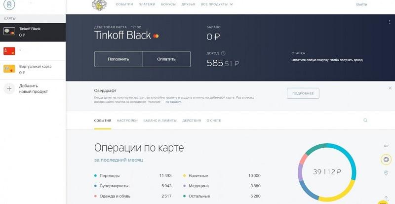 тарифы Тинькофф Блэк